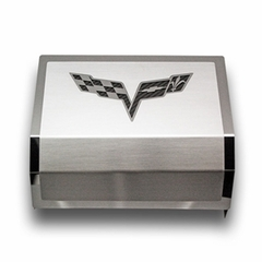 C6 Corvette Stainless Steel Fuse Box Cover