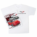 C6 Z06 & Convertible White T- Shirt - Mens