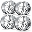 C6Z06 Style Corvette Wheels (Set): Chrome