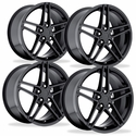 C6Z06 Style Corvette Wheels (Set): Gloss Black