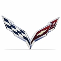 C7 Corvette Emblem Metal Sign