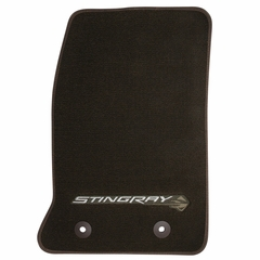 C7 Corvette Floor Mats - Brownstone w/Stingray Logo