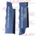 C7 Corvette Hydro Carbon Fiber Fuel Rail Covers (Textured)