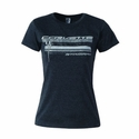 C7 Corvette - Ladies Stingray Glitter Bomb T-Shirt : Heather Black