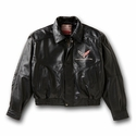 C7 Corvette - Lambskin Bomber Jacket with C7 Emblem