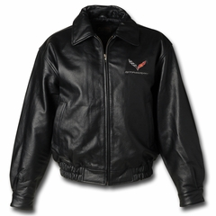 C7 Corvette Leather Jacket w/ C7 Emblem