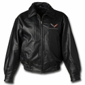 C7 Corvette Leather Jacket w/ C7 Emblem - Ralph White Merchandising NC222