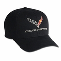 C7 Corvette Logo Flex Fit Pro Performance Fitted Cap : Black