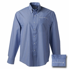 C7 Corvette Long Sleeve Pin Stripe Men's Shirt : French Blue