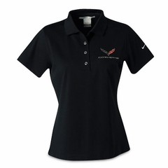 C7 Corvette Polo - Ladies Nike Dri Fit Performance Polo : Black