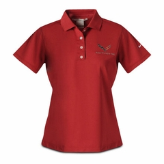 C7 Corvette Polo - Ladies Nike Dri Fit Performance Polo : Pro Red