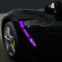C7 Corvette Side Cove & Hood Vent LED Lighting Kit with On/Off Remote