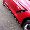 C7 Corvette Side Skirts Package - Body Color Painted
