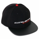 C7 Corvette Stingray Cap - Black w/Carbon Fiber Texture Bill