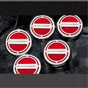 C7 Corvette Stingray Cap Cover 5Pc. Set Auto - GM Licensed Chrome/Brushed/Carbon Fiber Inlay Colors