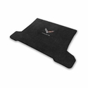 C7 Corvette Stingray Cargo Mat - Lloyds Mats with Crossed Flags & Corvette Script : Black - Lloyds Mats V0601127