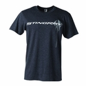 C7 Corvette Stingray Chest Logo Prey Tee Heather Midnight
