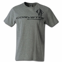 C7 Corvette Stingray Chest Logo T-shirt : Heather Grey