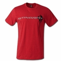 C7 Corvette Stingray Chest Logo T-shirt : Heather Red
