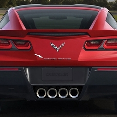 C7 Corvette Stingray Chrome Rear Letters