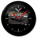"C7 Corvette Stingray Clock : 14"" Black C7 Corvette"