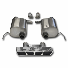 C7 Corvette Stingray CORSA SPORT Valve-Back Performance Exhaust System : Polished Poly Tip
