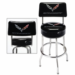 C7 Corvette Stingray Counter Stool w/ Back Rest