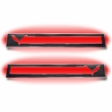C7 Corvette Stingray Door Sill Carbon Fiber Overlay with Polished Trim & LED Lighting Kit - American Car Craft 051019