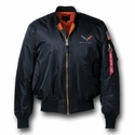C7 Corvette Stingray Flight Jacket with C7 Emblem