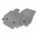 C7 Corvette Stingray Floor Mats - Lloyds Mats with C7 Crossed Flags : Greystone - Lloyd Mats V0551170