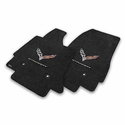 C7 Corvette Stingray Floor Mats - Lloyds Mats with C7 Crossed Flags & Stingray Script: Black - Lloyds Mats V0562127