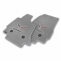 C7 Corvette Stingray Floor Mats - Lloyds Mats with C7 Crossed Flags & Stingray Script: Greystone - Lloyds Mats V0562170