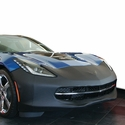 C7 Corvette Stingray Front End Cover/Bra w/Black Flags Logo