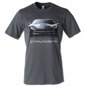 C7 Corvette Stingray Front View T-shirt : Charcoal