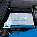 C7 Corvette Stingray Fuse Box Cover with Stingray Emblem / Font Carbon Fiber Colors - American Car Craft 053033