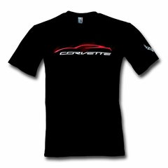 C7 Corvette Stingray Gesture Mist T-shirt : Black