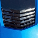 C7 Corvette Stingray Hood Vent Grille Laser Mesh Polished