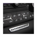 C7 Corvette Stingray Interior Dash Trim Badge - Stingray Logo : Chrome