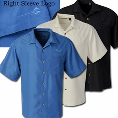 C7 Corvette Stingray - Men's Herringbone Camp Shirt : Black, Blue or Ivory