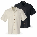 C7 Corvette Stingray - Men's Herringbone Camp Shirt : Black