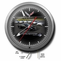 "C7 Corvette Stingray Neon Clock : 20"" Silver/Black Face C7 Corvette"