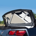 C7 Corvette Stingray Polished Trunk Lid Trim with Brushed Brace : 2014-2015 Convertible