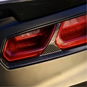 C7 Corvette Stingray Rear Tail Lamp Bezels - Carbon Fiber : Concept7 - Nowicki Autosport Design NACFTLB