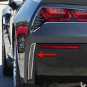 C7 Corvette Stingray Rear Valance Vent Grilles - Matrix