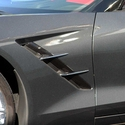 C7 Corvette Stingray Retro Style Side Spears 4Pc Chrome