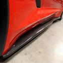 C7 Corvette Stingray Side Rocker Extensions - Carbon Fiber