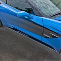 C7 Corvette Stingray Side Skirts Stainless Steel / Carbon Fiber : Stingray Script