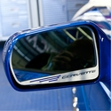 "C7 Corvette Stingray Side View Mirror with ""CORVETTE"" Script 2Pc : Auto-Dim Mirror - American Car Craft 052029"