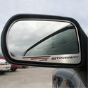"C7 Corvette Stingray Side View Mirror with ""STINGRAY"" Script 2Pc : Auto-Dim Mirror - American Car Craft 052031"