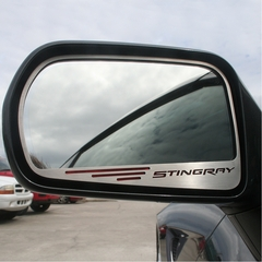"C7 Corvette Stingray Side View Mirror with ""STINGRAY"" Script 2Pc : Standard Mirror"